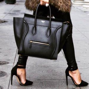 🦄✨Authentic✨🦄 Leather Black Tote Handbag
